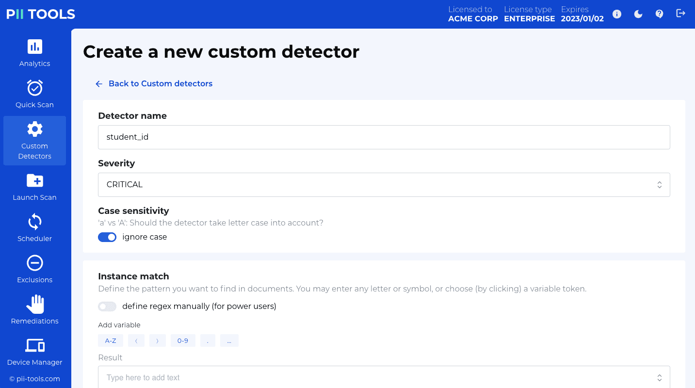 Getting started – PII Tools documentation